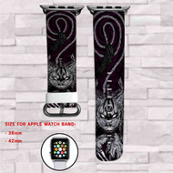 Alice In Wonderland Cat Cheshire Custom Apple Watch Band Leather Strap Wrist Band Replacement 38mm 42mm