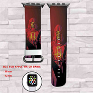 Anarky Ulysses Armstrong DC Comics Custom Apple Watch Band Leather Strap Wrist Band Replacement 38mm 42mm