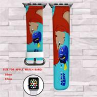 Aquaman DC Comics Custom Apple Watch Band Leather Strap Wrist Band Replacement 38mm 42mm