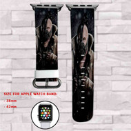 Bane DC Comics Custom Apple Watch Band Leather Strap Wrist Band Replacement 38mm 42mm