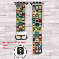 Batman All Characters Custom Apple Watch Band Leather Strap Wrist Band Replacement 38mm 42mm