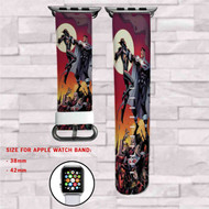 Batman Beyond Justice Lords Beyond Custom Apple Watch Band Leather Strap Wrist Band Replacement 38mm 42mm