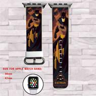 Batman Logo Pattern Custom Apple Watch Band Leather Strap Wrist Band Replacement 38mm 42mm