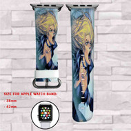 Black Canary DC Comics Custom Apple Watch Band Leather Strap Wrist Band Replacement 38mm 42mm