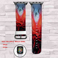 Black Manta DC Comics Custom Apple Watch Band Leather Strap Wrist Band Replacement 38mm 42mm