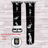 Black Widow The Avengers Marvel Custom Apple Watch Band Leather Strap Wrist Band Replacement 38mm 42mm