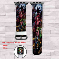 Brotherhood of Evil Mutants Marvel Custom Apple Watch Band Leather Strap Wrist Band Replacement 38mm 42mm