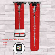 Bushido The Way of The Samurai Custom Apple Watch Band Leather Strap Wrist Band Replacement 38mm 42mm