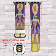 Cabba as Super Saiyan Dragon Ball Super Custom Apple Watch Band Leather Strap Wrist Band Replacement 38mm 42mm