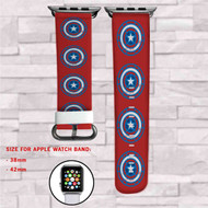 Captain America Iron Man Civil War Custom Apple Watch Band Leather Strap Wrist Band Replacement 38mm 42mm