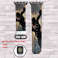 Catwoman DC Comics Custom Apple Watch Band Leather Strap Wrist Band Replacement 38mm 42mm