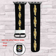 Chevrolet Car Custom Apple Watch Band Leather Strap Wrist Band Replacement 38mm 42mm
