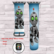 Clank from Ratchet & Clank Custom Apple Watch Band Leather Strap Wrist Band Replacement 38mm 42mm