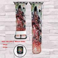 Cyborg DC Comics Custom Apple Watch Band Leather Strap Wrist Band Replacement 38mm 42mm
