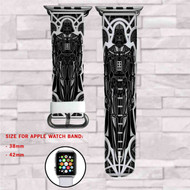 Darth Vader Robot Custom Apple Watch Band Leather Strap Wrist Band Replacement 38mm 42mm