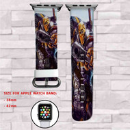 Deathstroke DC Comics Custom Apple Watch Band Leather Strap Wrist Band Replacement 38mm 42mm