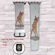 Disney Bambi Custom Apple Watch Band Leather Strap Wrist Band Replacement 38mm 42mm