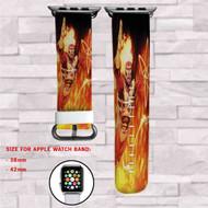 Firestorm DC Comics Custom Apple Watch Band Leather Strap Wrist Band Replacement 38mm 42mm