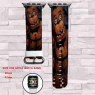 Freddy Fazbear Five Night at Freddy's Custom Apple Watch Band Leather Strap Wrist Band Replacement 38mm 42mm
