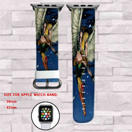 Hawkgirl DC Comics Custom Apple Watch Band Leather Strap Wrist Band Replacement 38mm 42mm