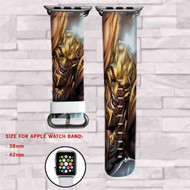 Hawkman DC Comics Custom Apple Watch Band Leather Strap Wrist Band Replacement 38mm 42mm