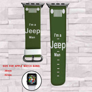 I'm a Jeep Man Custom Apple Watch Band Leather Strap Wrist Band Replacement 38mm 42mm