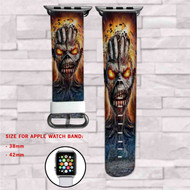 Iron Maiden Ruins Monster Custom Apple Watch Band Leather Strap Wrist Band Replacement 38mm 42mm
