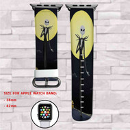 Jack Skellington Disney Custom Apple Watch Band Leather Strap Wrist Band Replacement 38mm 42mm