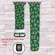 Link The Legend of Zelda Collage Custom Apple Watch Band Leather Strap Wrist Band Replacement 38mm 42mm