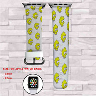 Lisa The SImpsons Custom Apple Watch Band Leather Strap Wrist Band Replacement 38mm 42mm