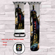 Martian Manhunter DC Comics Custom Apple Watch Band Leather Strap Wrist Band Replacement 38mm 42mm