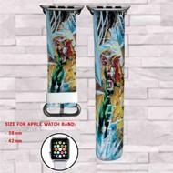 Mera DC Comics Custom Apple Watch Band Leather Strap Wrist Band Replacement 38mm 42mm