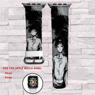 Ajin Anime Custom Apple Watch Band Leather Strap Wrist Band Replacement 38mm 42mm