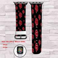 Akatkusi Naruto Shippuden Custom Apple Watch Band Leather Strap Wrist Band Replacement 38mm 42mm