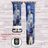 Arpeggio Blue Steel Custom Apple Watch Band Leather Strap Wrist Band Replacement 38mm 42mm
