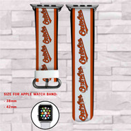 Baltimore Orioles MLB Custom Apple Watch Band Leather Strap Wrist Band Replacement 38mm 42mm