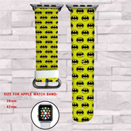 Batman Collage Custom Apple Watch Band Leather Strap Wrist Band Replacement 38mm 42mm