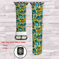 Batman Comic Capers Custom Apple Watch Band Leather Strap Wrist Band Replacement 38mm 42mm