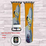 Bender Futurama Custom Apple Watch Band Leather Strap Wrist Band Replacement 38mm 42mm