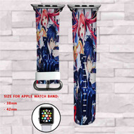 Black Bullet Rentaro and Enju Custom Apple Watch Band Leather Strap Wrist Band Replacement 38mm 42mm