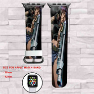 Black Lagoon Shoot Custom Apple Watch Band Leather Strap Wrist Band Replacement 38mm 42mm