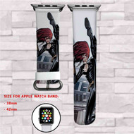 Black Widow Marvel Custom Apple Watch Band Leather Strap Wrist Band Replacement 38mm 42mm