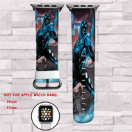 Blue Beetle DC Comics Custom Apple Watch Band Leather Strap Wrist Band Replacement 38mm 42mm