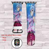 Blue Steel Takao Arpeggio  Custom Apple Watch Band Leather Strap Wrist Band Replacement 38mm 42mm