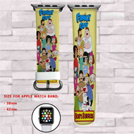 Bob's Burgers and Family Guy  Custom Apple Watch Band Leather Strap Wrist Band Replacement 38mm 42mm