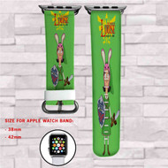 Bob's Burgers The Legend of Louise  Custom Apple Watch Band Leather Strap Wrist Band Replacement 38mm 42mm