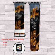 Bumblebee Transformers Custom Apple Watch Band Leather Strap Wrist Band Replacement 38mm 42mm