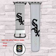 Chicago White Sox MLB Custom Apple Watch Band Leather Strap Wrist Band Replacement 38mm 42mm