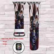 Code Geass Lelouch Lamperouge and Suzaku Kururugi Custom Apple Watch Band Leather Strap Wrist Band Replacement 38mm 42mm