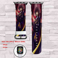 Code Geass Lelouch of the Rebellion Custom Apple Watch Band Leather Strap Wrist Band Replacement 38mm 42mm